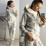 Women's Tracksuit Female Pullover Hoodies Jogging Pants Sweatshirt Sports Suit Two Piece Set Women Clothing Warm Outfits