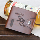 Leather Vintage Men Wallets Male Money Bag Hasp Hollow Out Small Wallet Men Clutch Purse Card Holder Coin Pocket