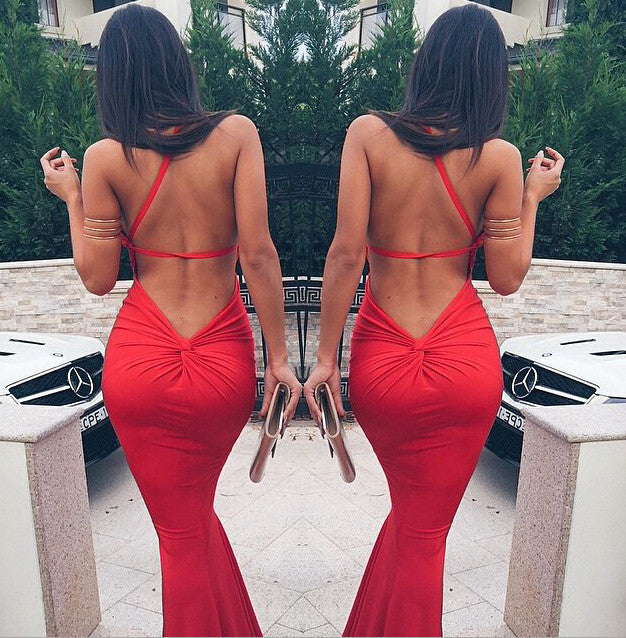 Sexy backless party dress