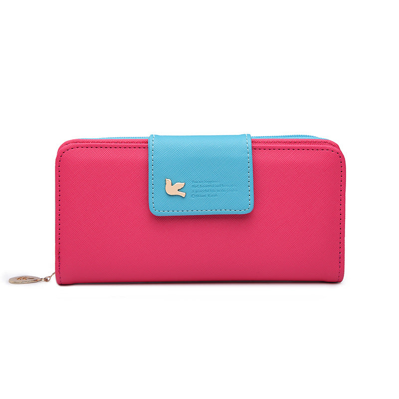 Women Leather Wallet Women's Clutch Bag Hasp Wallet Zipper Long Purses Card Holder High Quality Bolsa Feminina