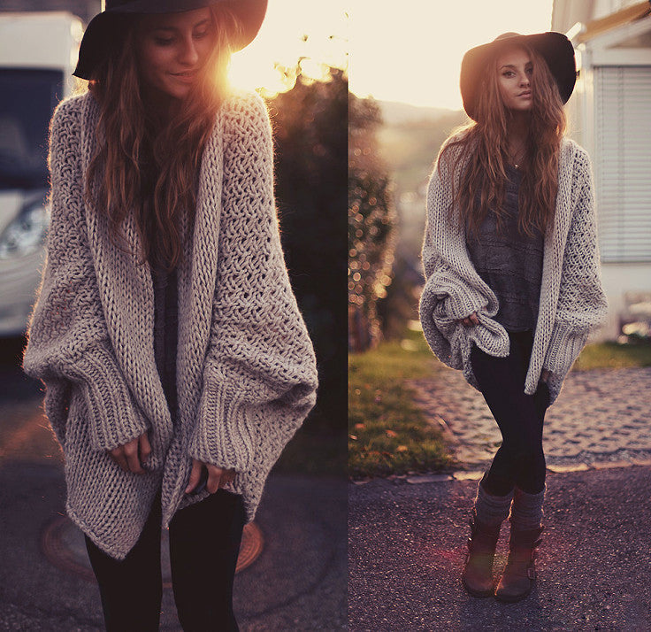 Cardigan Bat Sleeve Sweater [CS1104EB]