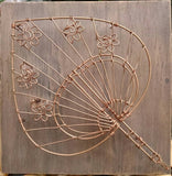 ww0001:  Fan Hand Crafted Copper Wire Art