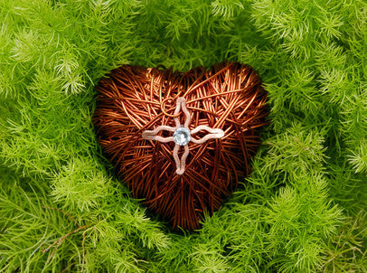 Valentine's Copper Wired Heart