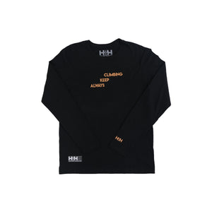 HDMH Unisex Always Keep Climbing Long Sleeve - Black