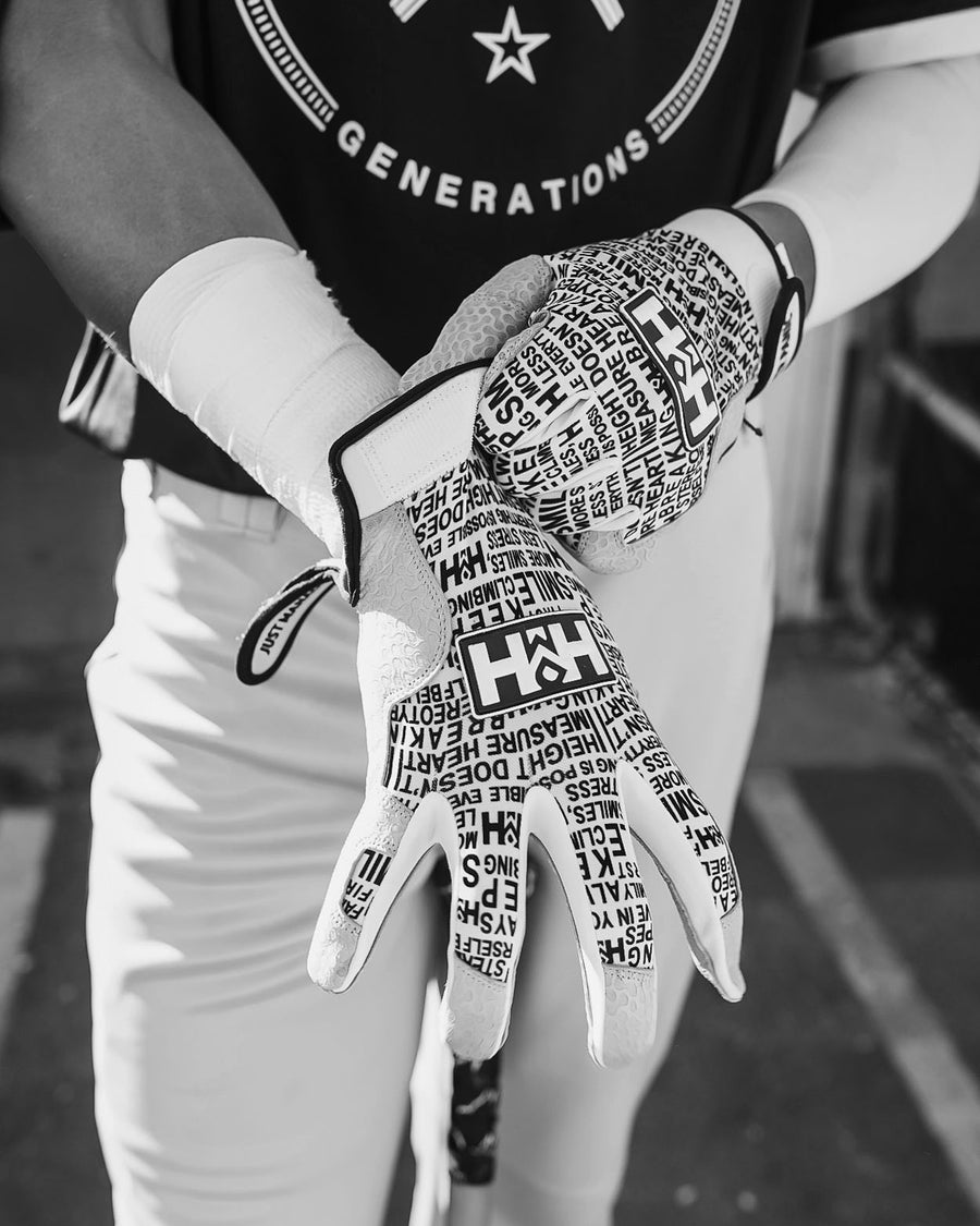 HDMH Youth Batting Gloves - White/Black
