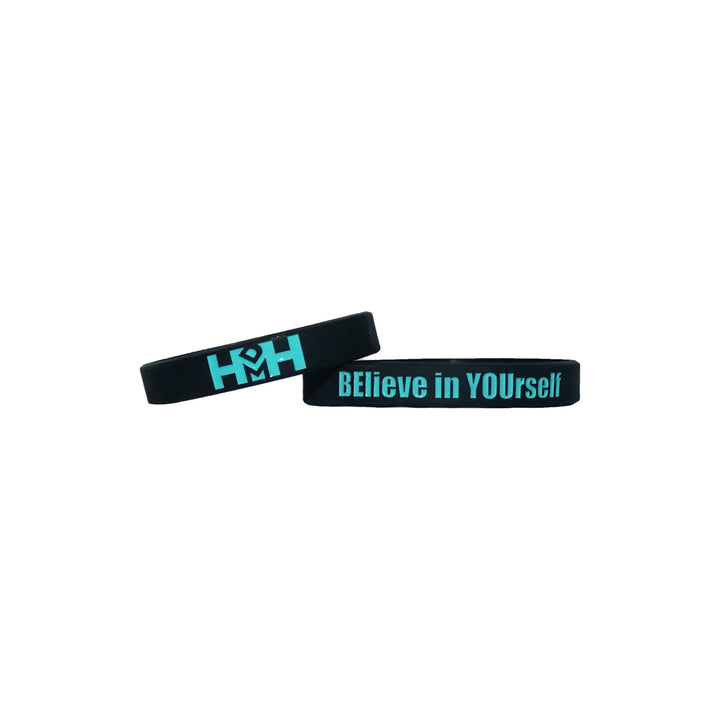 HDMH Wristband - BElieve in YOUrself - Black and Mint