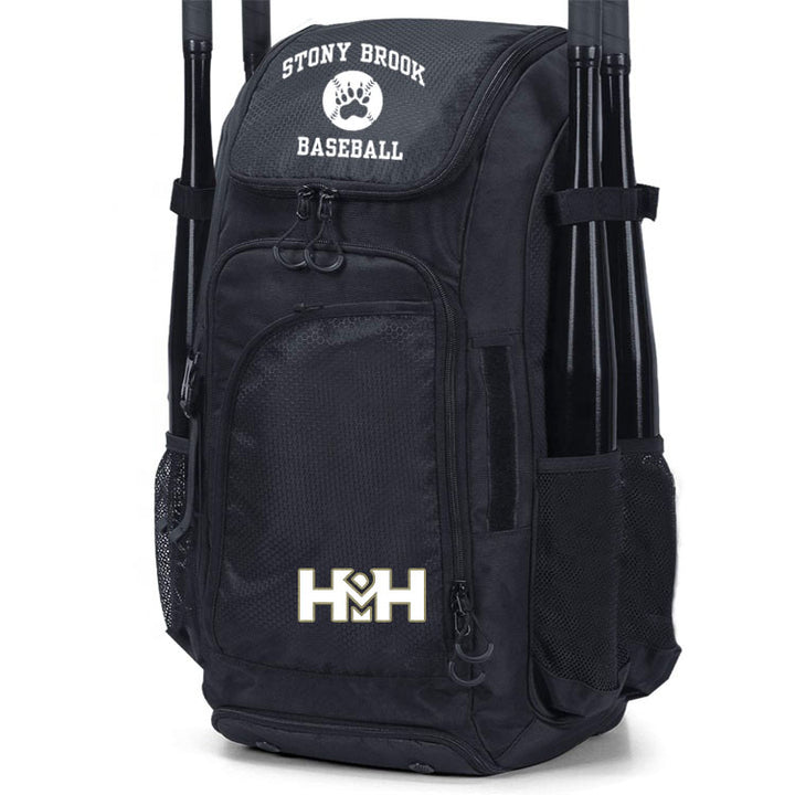 HDMH Stony Brook Baseball Backpack - Black