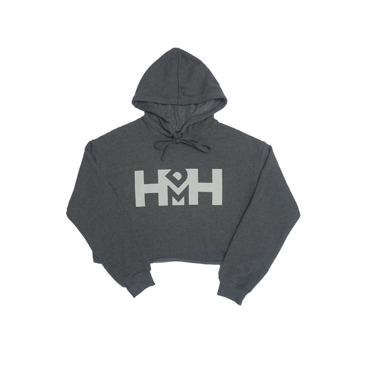 HDMH Women's Crop Hoodie  - Dark Grey