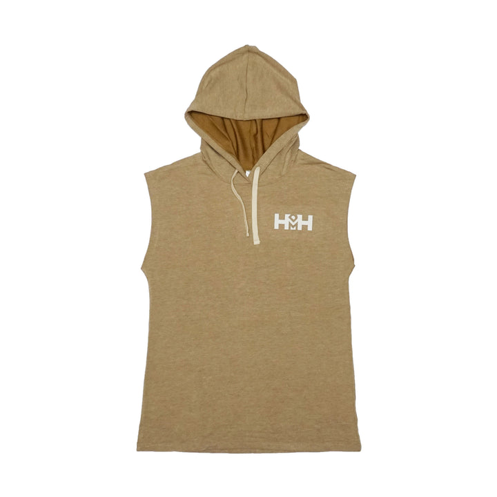 HDMH Men's Athletic Cut Off Hoodie - Gold