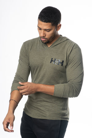 HDMH Unisex Jersey Hoodie - Military Green