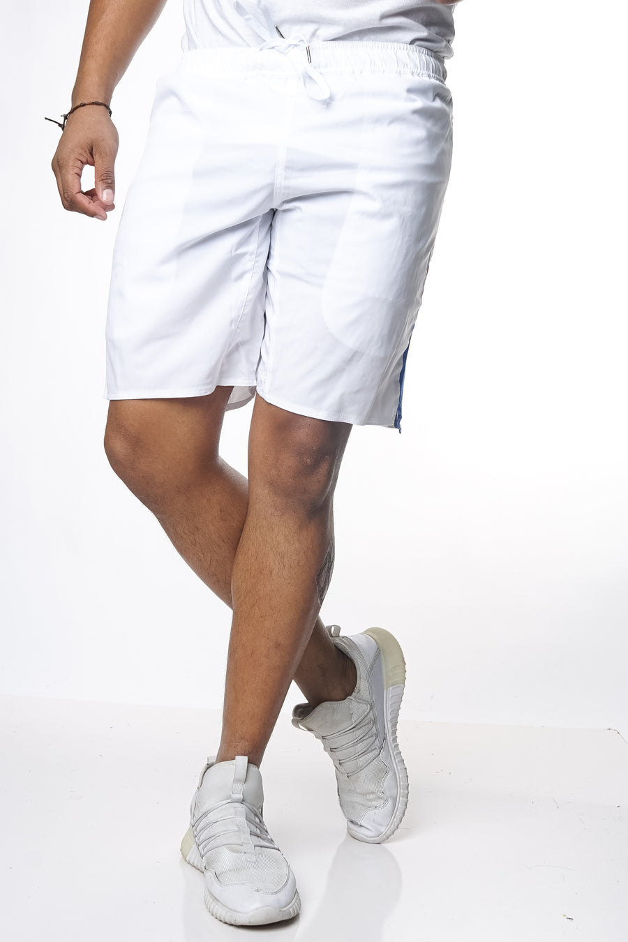HDMH Training Shorts - White/Royal Blue