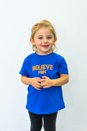 HDMH Toddler BELIEVE T-Shirt - True Royal