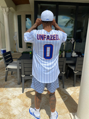 Youth HDMH Jersey - UNFAZED. White/Pinstripes