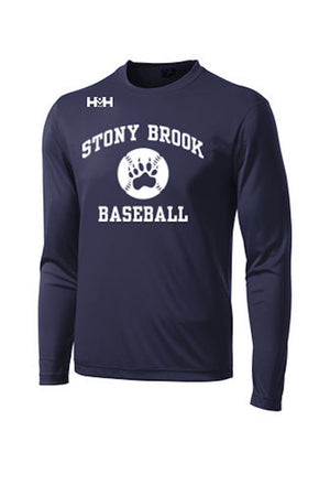 HDMH x Stony Brook Prep Long Sleeve Training Shirt - Navy