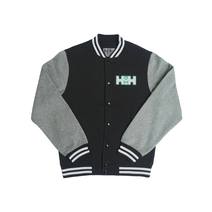 HDMH Letterman Jacket - Black/Grey