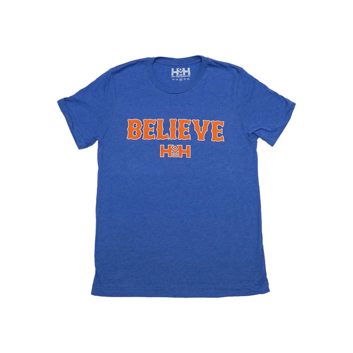HDMH Unisex BELIEVE T-Shirt - Athletic Royal