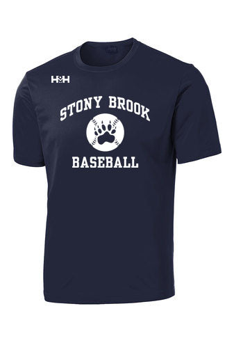 HDMH x Stony Brook Prep Short Sleeve Training Shirt - Navy