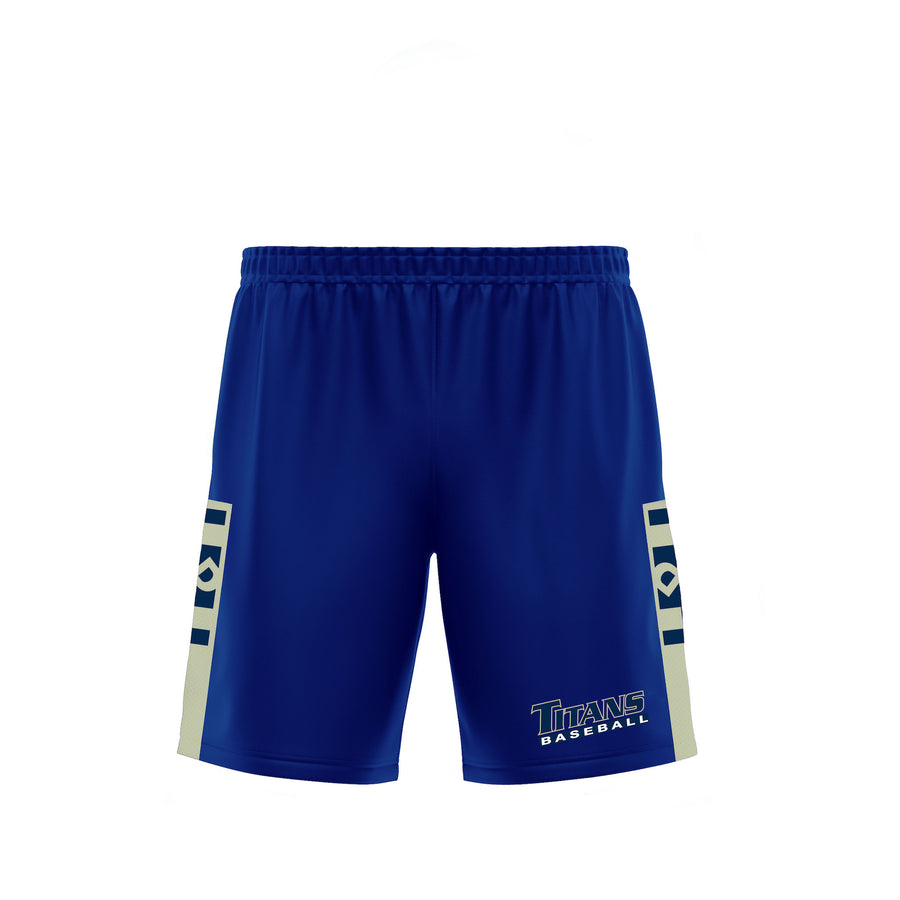 HDMH Titans Training Shorts - Navy/Vegas Gold