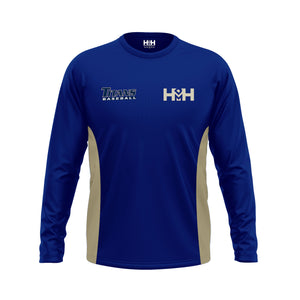HDMH Titans Long Sleeve Training Shirt - Navy/Vegas Gold