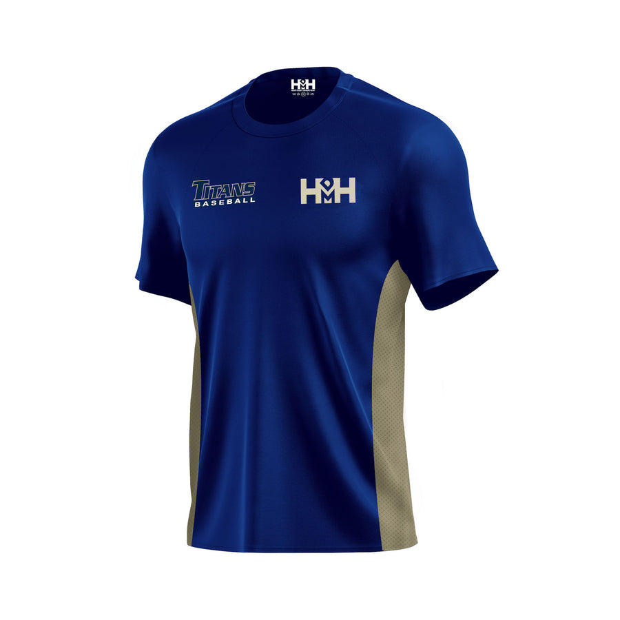 HDMH Titans Training T-Shirt - Navy/Vegas Gold