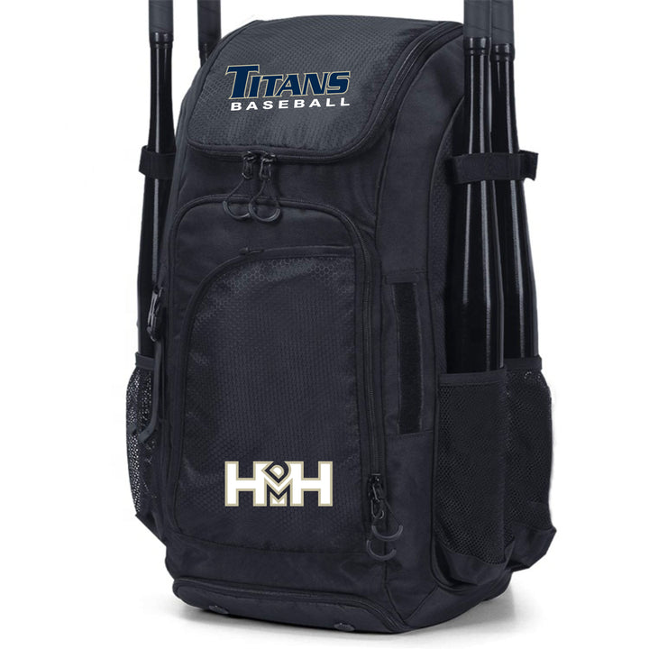 HDMH Titans Baseball Backpack - Black
