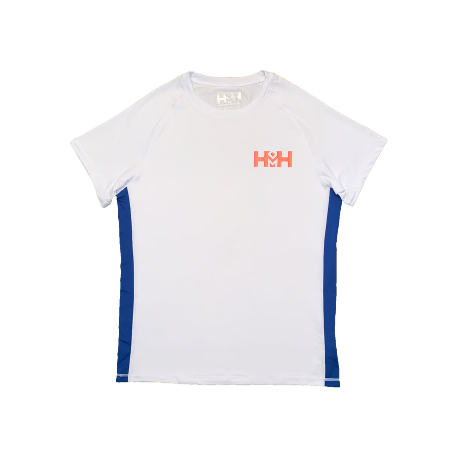 HDMH Unisex Training T-Shirt - White/Royal Blue