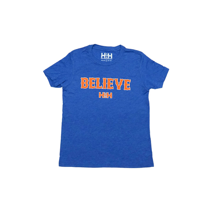 HDMH Youth BELIEVE T-Shirt - True Royal Triblend