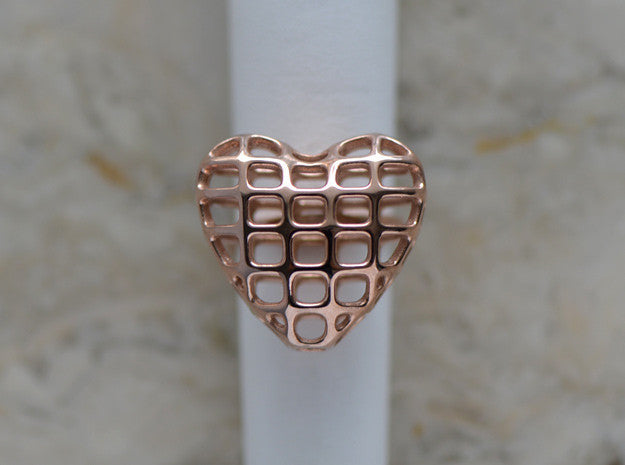 Brass Heart Ring in Brass