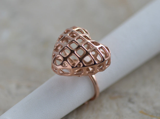 Heart Ring Rose Gold Plated