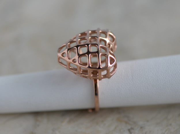 Unusual Heart Ring