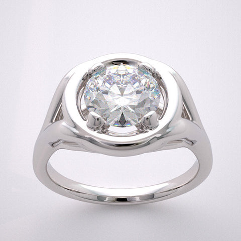 14k Designer Ring Setting Collection, Center Quality Swarovski Gem