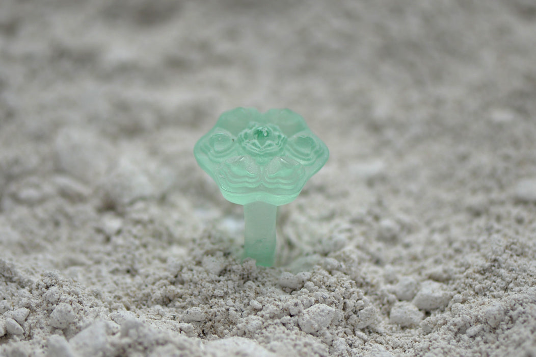 Molded Glass Crystal Ring