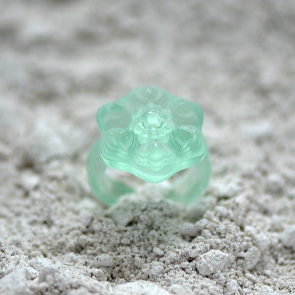 Glass Casting Antique Style Ring