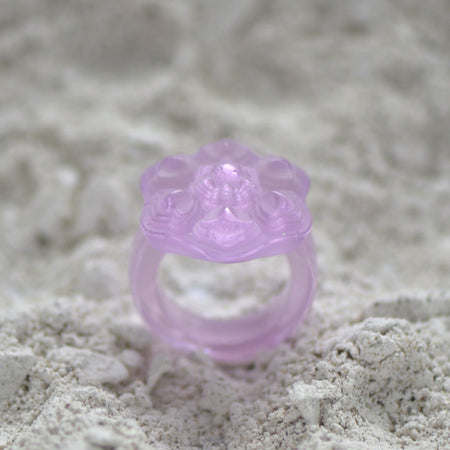 Glass Casting Fuchsia Ring