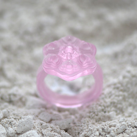 Pink Glass Casting Ring