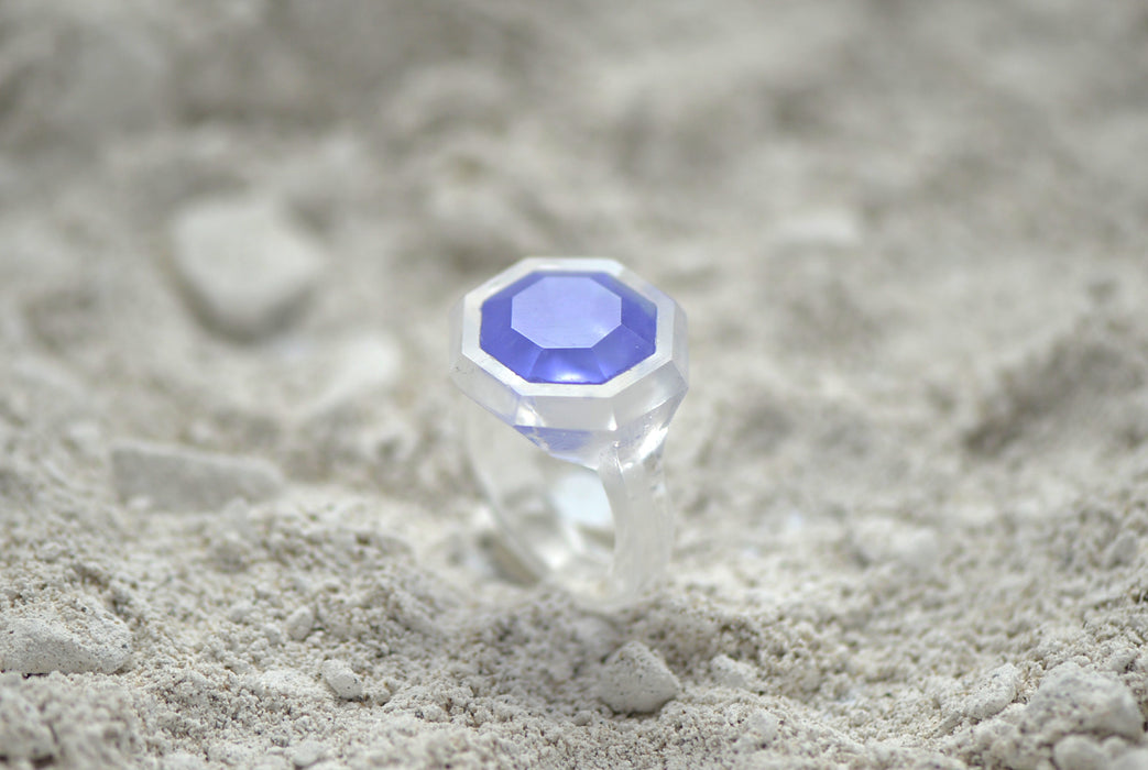 Glass Casting Brilliant Shape Ring