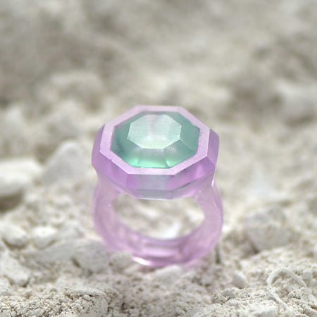 Glass Casting Facetted Ring