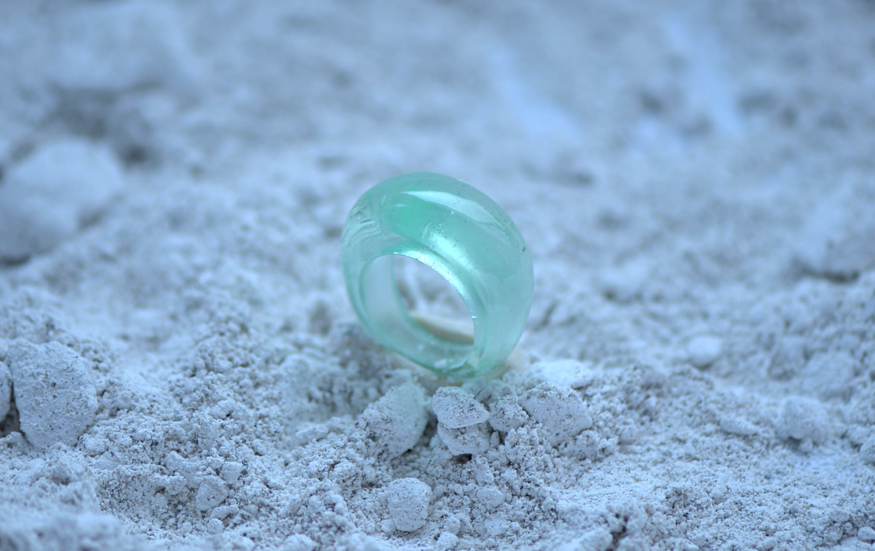 Kiln Glass Casting Domed Ring