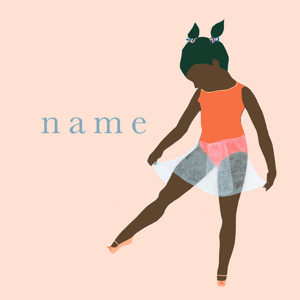DANCE custom name print