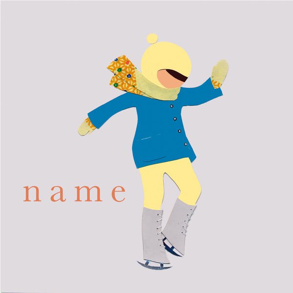 ICE SKATE custom name print