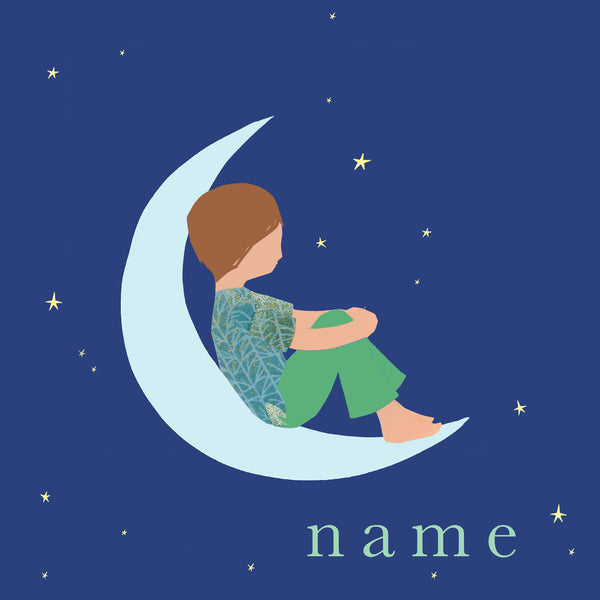 MOON (boy) custom name print