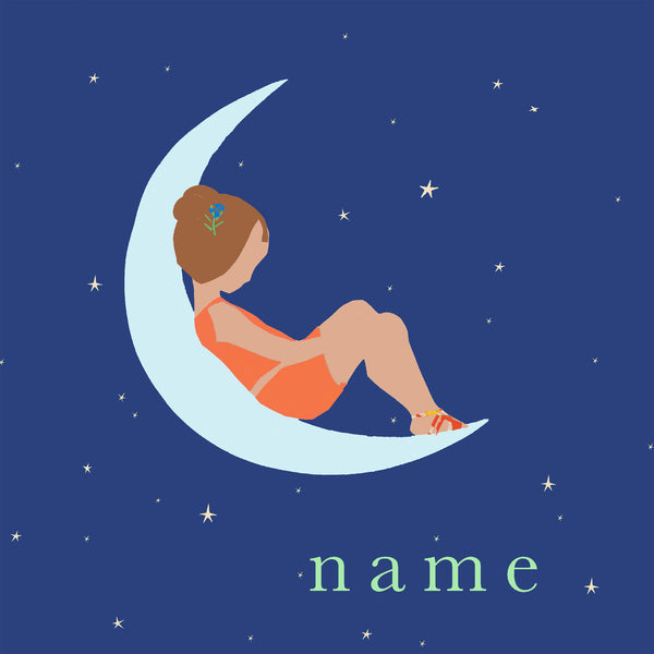 MOON (girl) custom name print