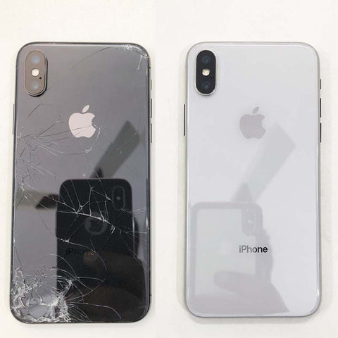 free shipping 68131 33a88 iPhone X Cracked Back Glass Replaced