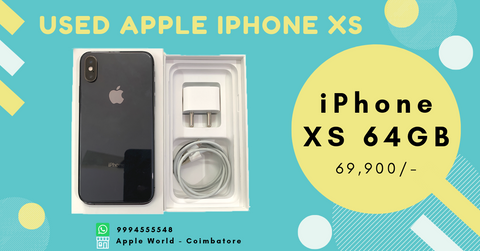 Used iPhone XS 64GB Space Grey for sale @ 69900/- Under Apple Warranty