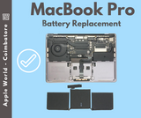 MacBook Pro Non Touch Bar A1708 Battery Replaced - Apple World - Coimbatore
