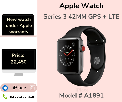 Apple Watch Series 3 42MM  GPS + LTE Space Grey Colour for sale @ 22450/-