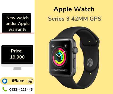 New Apple Watch Series 3 GPS 42MM black Colour for sale @ 19,900  - iPlace Coimbatore