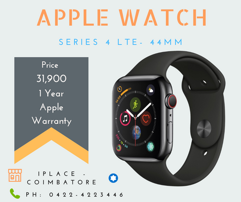 Apple Watch Series 4 LTE 44MM Black Colour for sale @ 31900/-    Diwali Offer