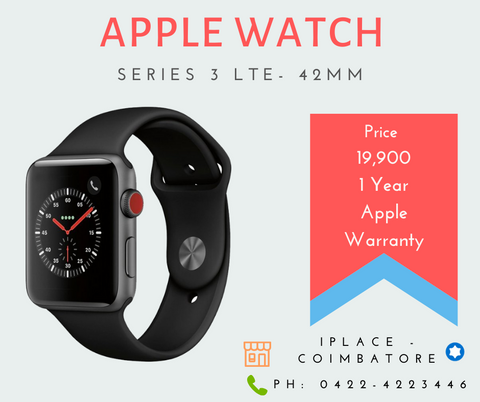 New Apple Watch Series 3 42MM GPS + LTE 1 Year Apple Warranty for sale @ 19,900