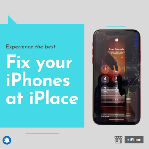 Cracked iPhone XR Screen Replaced - Experience the best at iPlace, we can fix all iDevices